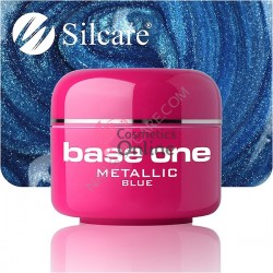 Gel UV Base One Silcare metalic Blue 5 ml